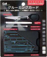 Kai grooming card for men scissors tweezers earpick mirror toothpick case japan