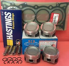 YCP 75mm Vitara Pistons Low Compression + Rings+Gasket Honda Crx Civic D16 Turbo