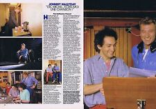 COUPURE DE PRESSE CLIPPING 1985 MICHEL BERGER - JOHNNY HALLYDAY  (2 pages)
