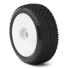 AKA Cityblock 1/8 Buggy Pre-Mounted Tires (White) (Super Soft - Long Wear) (2)