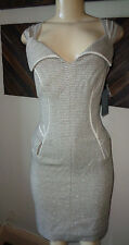 $1095 ZAC POSEN METALLIC POCKET SHEATH DRESS SIZE 6 US /  42IT