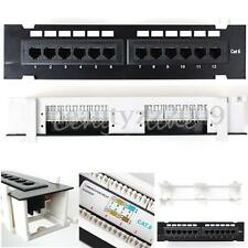 Launched RJ45 CAT6 PATCH PANEL 12 PORTS WALL MOUNT SURFACE BRACKET