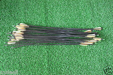 30PCS 31'' Screw on/off Tips Fiberglass Arrows For Recurve Bow Shooting Practice