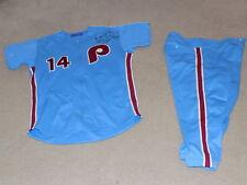 Pete Rose Mizuno Game Worn Signed Full Uniform Philadelphia Phillies Reds