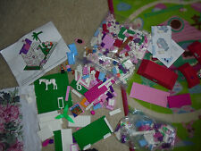 Lot of girls replacement pieces partial house kit Kid Connection blocks + bonus