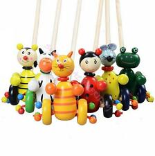 Baby Toys Animal Push Pull Walking Toy Children Kids Wooden Educational Toys