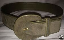 Vtg Women's Small Luxury Brand Gucci Leather Belt Olive Army Green Made in Italy
