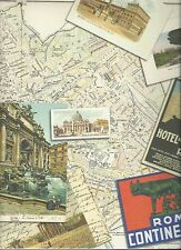 VINTAGE ROME Italy 12 x 12 Scrapbook Paper - 2 Sheets