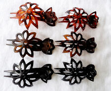 Hair Claw Multi-color 6 PC FLOWER NEW LARGE MIMIC ACETATE Hairpin Clip Bow Clamp