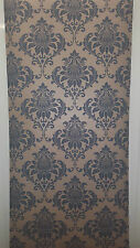 Luxury Damask Dark Grey & Light Gold Wallpaper feature wall Designer