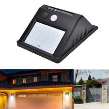 20 LED Solar Power PIR Motion Sensor Security Wall Light Waterproof Garden Lamp