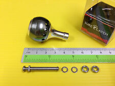 Surecatch Small Size Gun Metal Color Handle Round Knob for Daiwa Spinning Reels.