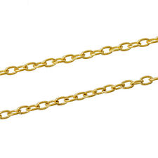 3ft Oval Gold Plated Findings Link opened Cable Chains 5x3mm Jewelry making  DIY