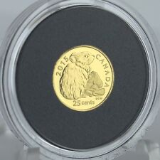 Canada 2015 25-cents Rock Rabbit (Pika) 0.5 g 99.99% Pure Gold Proof Coin