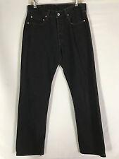 Vintage LEVI's 501 Black Denim Jeans Button Fly 32 x 32 (actual)
