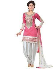 Bhavika Exim Designer Pink Emboridery Cotton Suit