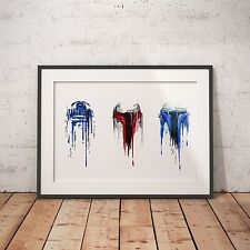Starwars Watercolor Watercolour Dripped R2D2 Jedi- A4 Poster - FREE Shipping