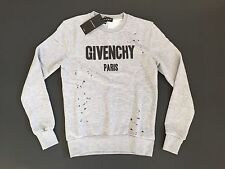Brand New Givenchy Gray Sweater  Men's Cotton Print Hoodie T-Shirt Size XL