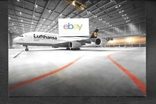 LUFTHANSA GERMAN AIRLINES AIRBUS A380 IN HANGAR AIRLINE ISSUE POSTCARD