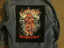 SLAYER world painted blood BACKPATCH  / BACK PATCH LARGE / HEAVY METAL BIKER