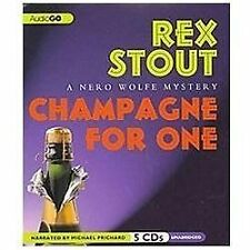 Champagne for One : A Nero Wolfe Mystery by Rex Stout (2012, 5 CD) Audiobook