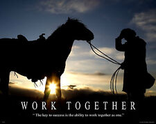 Horse Motivational Poster Art Western Decor Cowboy Rodeo Saddle Spurs MVP49