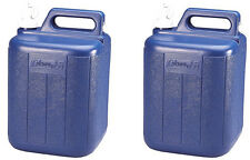 (2) COLEMAN Camping Picnic 5 Gallon Water Carrier Containers w/ Spigot & Handle
