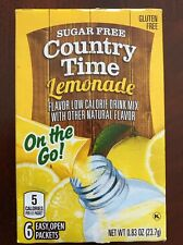 6 Boxes of Country Time Lemonade-On the Go-Drink Mix Packets (36 Packets)