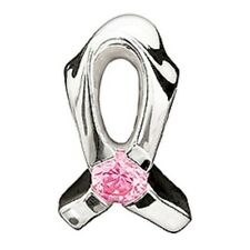 Authentic Chamilia Element Charm Silber Breast Cancer Light Pink Cz Bead JA-1A
