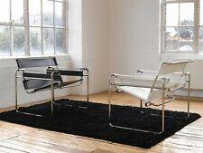 Poltrona wassily bianca o nera Marcel Breuer cuoio acciaio pelle design replica