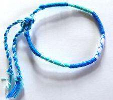 Bracelet brésilien Amitié coton Friendship Bleu turquoise blue Porte Bonheur