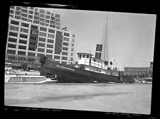 Tugboat Salvage Prince at Dock MONTREAL ON Ontario Photo Negative 1