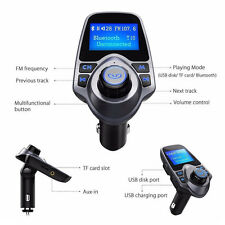 Bluetooth Wireless Car KFZ Auto Kit MP3 Player FM Transmitter Radio Adapter USB~