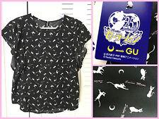 ✨ Sailor Moon 25th Annivaersary GU Luna print Casual Party Blouse shirt Japan✨