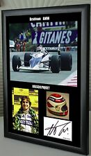 "Nelson Piquet F1 Brabham BMW Framed Canvas Tribute Signed Print ""Great Gift"""