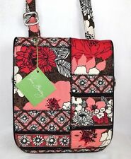 VERA BRADLEY FLAP CROSSBODY PURSE PATCHWORK MOCHA ROUGE - BRAND NEW WITH TAGS!