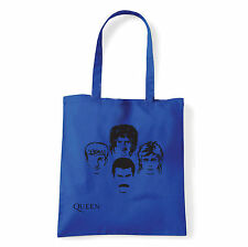 Art T-shirt, Borsa shoulder Queen Faces, Blu, Shopper, Mare