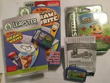 2 COMPLETE LEAP FROG LEAPSTER 1 I 2 II GAMES LETTERPILLAR + Mr PENCIL LEARN TO .
