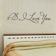 PS I Love You Letter  Vinyl Wall Quotes Stickers Home Art Decals Room Decoration