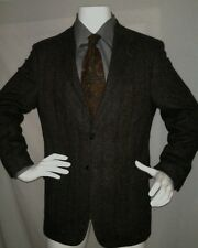 BOAT HOUSE ROW Fine Clothing Blazer Jacket Sportcoat Sz 40R Lambswool Brown