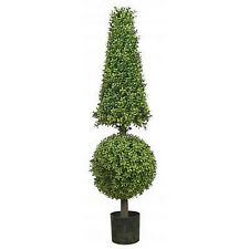 """50"""" Artificial Boxwood Cone Ball TopiaryTree Outdoor 4' 2"""" EVERGREEN POOL PATIO"""