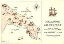 BARI - TARANTO - LECCE - OTRANTO - GALLIPOLI  -  Ferrovie del Sud - Est