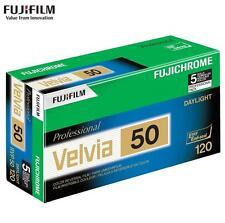 5 Rolls Fujifilm FUJI Velvia 50 ISO Reversal RVP 120 Slide Film