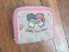 Sanrio Little Twin Stars fabric wallet kiss-clasp kawaii FREE SHIPPING Japanese