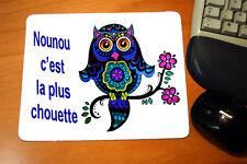 """Tapis de souris  message """"Nounou c'est la plus chouette"""""""