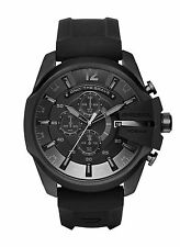 NEW Diesel DZ4378 Chief Black Silicone Strap Chronograph Men's Watch