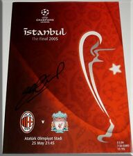 STEVEN GERRARD PERSONALLY SIGNED LIVERPOOL 2005 CHAMPIONS LEAGUE FINAL PROGRAMME