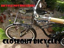 Micargi Bicycle Front Basket Lift Off Carrier BLACK Cruiser Commuter Bike