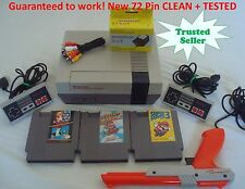 Nintendo NES Console System Bundle NEW PINS Game lot Super Mario 1 2 3 ZAPPER!