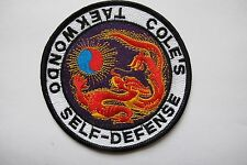 "Vintage 4"" COLE'S SELF-DEFENSE TAEKWONDO KUNG-FU Embroidery Applique Patch"